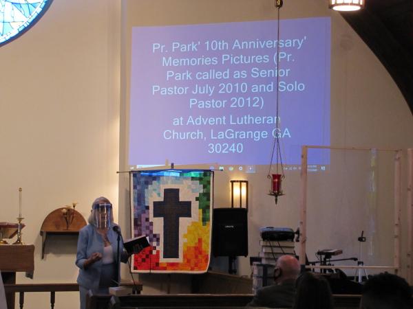 박민찬 목사의 25년 단독목회, 10년 담임목회, 결혼 30주년을 기념하는 시간을 가졌다.