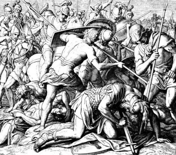 사울의 죽음(1860), 율리우스 슈노르 폰 카롤스펠트