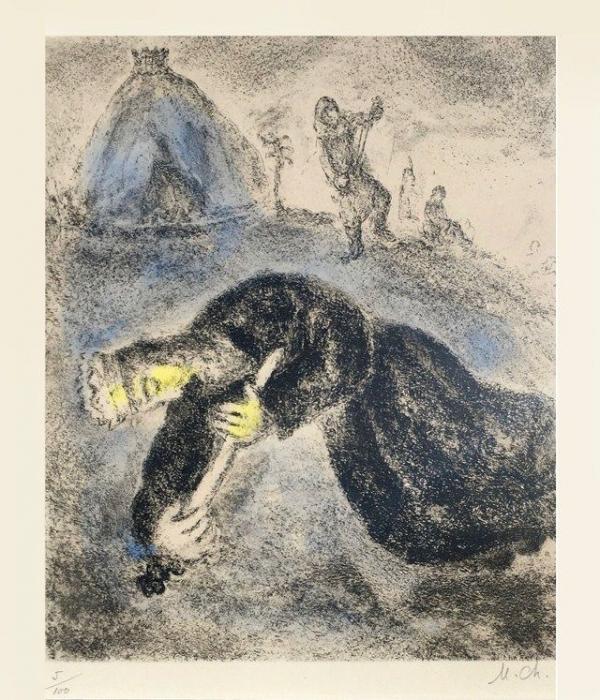 사울의 죽음(1956), 마르크 샤갈.