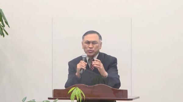 2021년 신년기도회 및 하례식에서 설교한 백성봉 목사